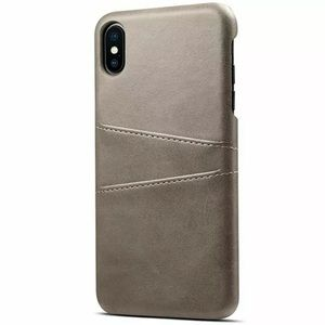 Gray iPhone Leather Wallet Case